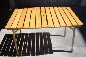 Tavolo pieghevole da giardino reguitti posot class for Sedie richiudibili