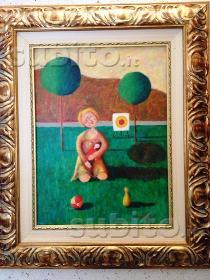 Lucio statti (dipinto olio 30 x 40 con cornice)