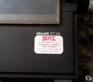 Macchina per scrivere elettronica Olivetti ET 115
