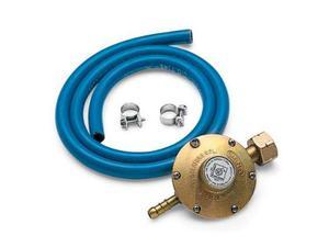 Regolatore di pressione con tubo in gomma e 2 fascette