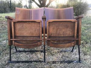 3 sedie cinema con sedute da 50 cm in legno posot class for Lino sonego poltrone