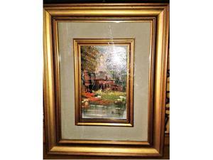3 Quadri soggetti vari olio su tela con firma