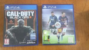 BLACK OPS 3 E FIFA 16 per PS4