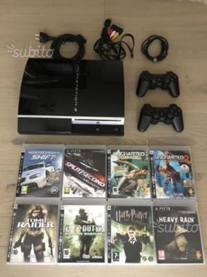 PS3 40 GB - PlayStation 3, 2 controller e 8 giochi