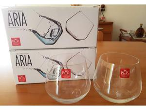 Set 4 bicchieri studio cristalleria italiana da vinci