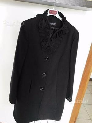 Cappotto donna in lana, col. nero, TG.48 SLIM