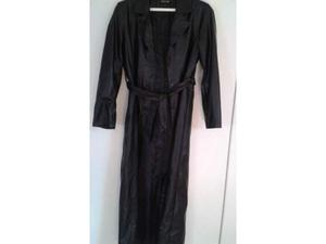 Cappotto lungo donna vera pelle colore nero tg 44