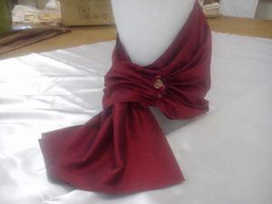 Sciarpa gioiello in pura seta con pietre dure