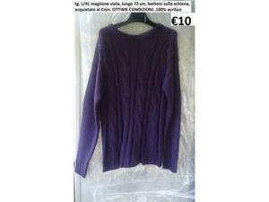 Tg. L/XL maglione viola donna