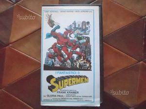 Vhs video cassetta i fantastici 3 Supermen, frank