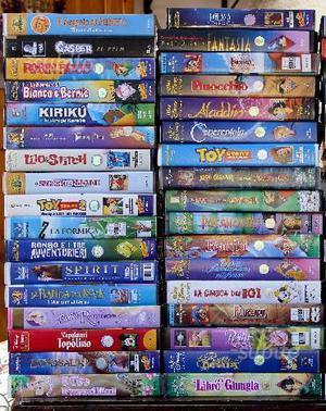 Videocassette VHS cartoni animati originali
