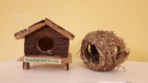 Casetta, nido e abbeveratoio criceto