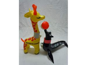 Giraffa Foca Gonfiabili vintage anni '80 Auguri gofiabili