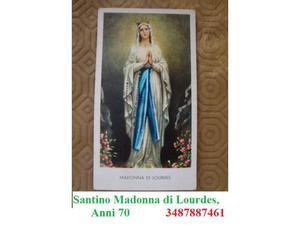 Santino Madonna di Lourdes, anni 70