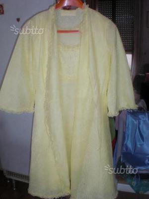 2 completi camicia da notte + vestaglia tg 46/L