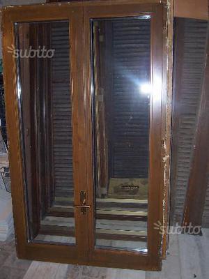 2 finestre e 7 porte balcone monoblocco in legno d