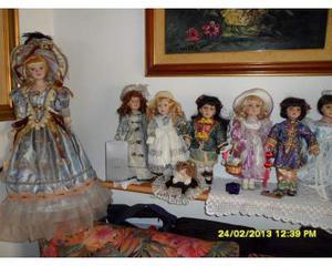 Bambole di porcellana da collezione set da 26 bambole