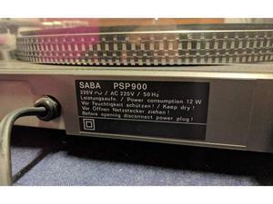 Giradischi Stereo Hi Fi Vintage Saba PSP 900