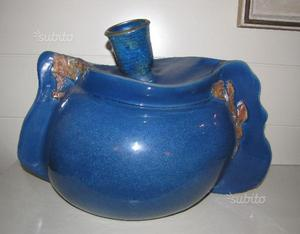 Grande vaso in terracotta maiolicata