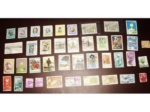 Lotto di 40 francobolli rep.italiana commemorativi
