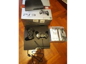 Playstation 3 slim 320GB + 2 joistick + 11 Giochi