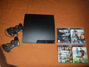 Ps3 slim 320 gb+ giochi + 2 joypad