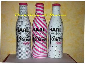"Coca cola set 3 bottiglie ""karl lagerfed"" rare"