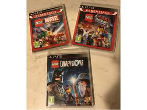 Lego marvel super heroes, the lego movie videogame e lego