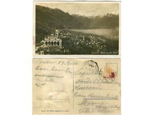 Cartolina Locarno Madonna del Sasso viaggiata Meana di Susa