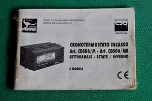 Cronotermostato perry cds06 senza batteria tampone posot for Cronotermostato lafayette cds 30