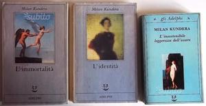 3 libri di Milan Kundera - SPEDIZIONE GRATIS
