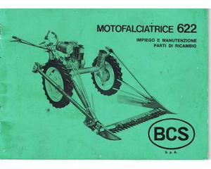 Manuali per motofalciatrice BCS 622 e relativa mietilega
