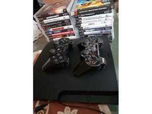 PS3 Slim 500gb + 2 Joystick + GIOCHI + Auricolare