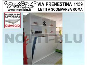 Letti a Scomparsa _ Letto con libreria Materasso Omaggio
