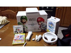 Nintendo Wii con accessori + 3 CD