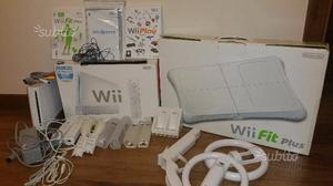 Nintendo wii bianca balance board e giochi