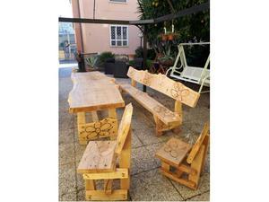 Tavolo da giardino totalmente in legno di Faggio