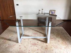 Tavolo usato in inox con piano in teflon posot class - Tavolo cristallo rettangolare usato ...
