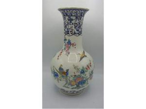 Vaso ceramica uccellini dipinti