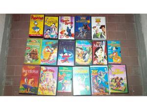 Stock 50 videocassette vhs disney e altro!