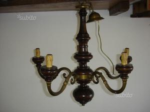 Lampadario Antico Ottone : Lampadario antico in ottone posot class