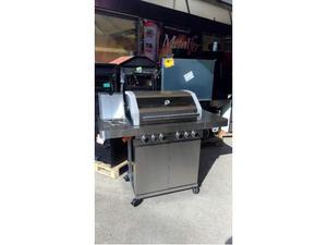 Barbecue A Gas acciaio inox con piastra in ghisa e