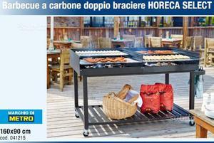 Barbecue a carbone doppio braciere 160x90
