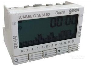 Cronotermostato geca easy 503 posot class for Termostato bticino living istruzioni