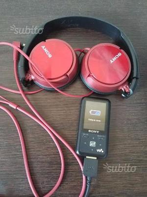 Lettore mp3 mp4 Sony NWZ-S616F 4 GB completo di ca