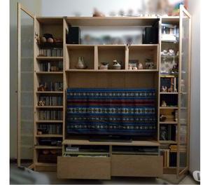 Libreria legno betulla acciaio e vetro posot class for Scaffale libreria ikea