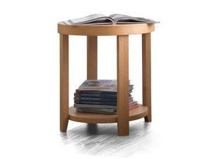 Tavolino Rotondo In Legno Rovere Naturale Nuzzi Panteon