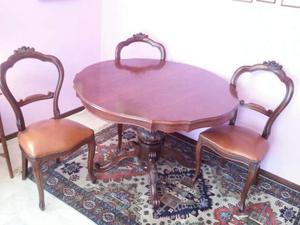 Tavolo con 6 sedie in stile classico