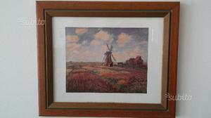 Bella stampa, cornice in legno cm. 36 x 30 - Monet