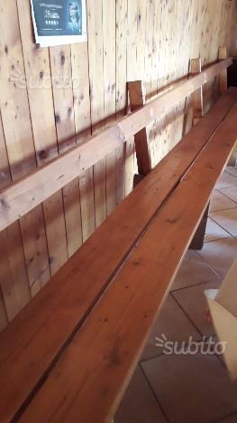 Maxi tavolo e panca per taverna